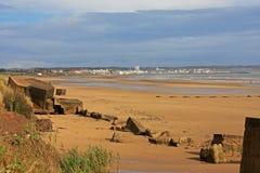 Spiaggia di Fraisthorpe, Yorkshire Immagine Stock