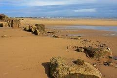 Spiaggia di Fraisthorpe, Yorkshire Immagini Stock