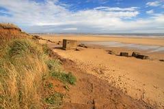 Spiaggia di Fraisthorpe, Yorkshire Immagine Stock Libera da Diritti