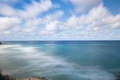 Spiaggia di Frenchmans sull'isola di Stradbroke, Queensland Fotografia Stock Libera da Diritti