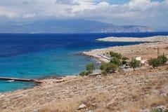 Spiaggia di Ftenagia, isola di Halki immagine stock