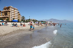 Spiaggia di Fuengirola, Costa del Sol, Spagna Immagine Stock Libera da Diritti