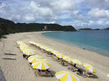 Spiaggia di Furuzamami, isola di Zamami, Okinawa, Giappone Fotografia Stock