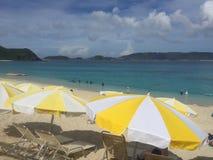 Spiaggia di Furuzamami, isola di Zamami, Okinawa, Giappone, bella spiaggia, splendido, stupente Immagini Stock Libere da Diritti