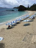 Spiaggia di Furuzamami sull'isola di Zamami in Okinawa, Giappone Fotografia Stock