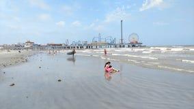 Spiaggia di Galveston immagini stock