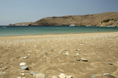 Spiaggia di Ganema, Serifo fotografie stock libere da diritti