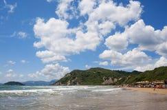 Spiaggia di Gerakas, all'isola Grecia di Zacinto Fotografie Stock