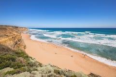 Spiaggia di Gibson Steps, grande strada dell'oceano, Victoria, Australia Fotografie Stock Libere da Diritti