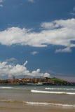 Spiaggia di Gijon Immagine Stock