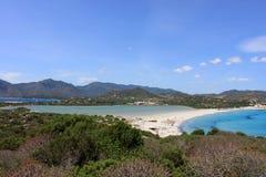 Spiaggia di giunco di Oporto, Villasimius, Sardegna Immagine Stock Libera da Diritti