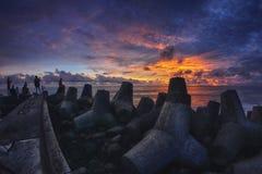 Spiaggia di Glagah Immagini Stock Libere da Diritti
