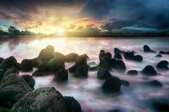 Spiaggia di Glagah Fotografia Stock