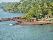 Spiaggia di Goa Fotografia Stock
