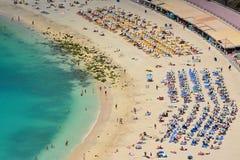 Spiaggia di Gran Canaria, Spagna Fotografia Stock Libera da Diritti