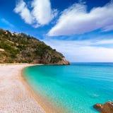 Spiaggia di Granadella della La di Javea in Xabia Alicante Spagna Fotografie Stock