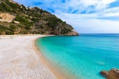 Spiaggia di Granadella della La di Javea in Xabia Alicante Spagna Fotografia Stock