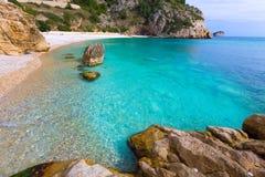 Spiaggia di Granadella della La di Javea in Xabia Alicante Spagna Fotografia Stock Libera da Diritti