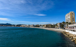 Spiaggia di Grava della La Fotografie Stock