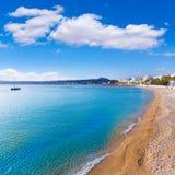 Spiaggia di Grava della La di Javea Xabia Playa in Alicante Spagna Immagini Stock
