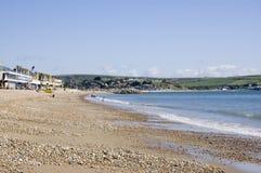 Spiaggia di Greenhill, Weymouth Fotografia Stock Libera da Diritti