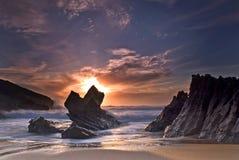Spiaggia di Guincho immagini stock