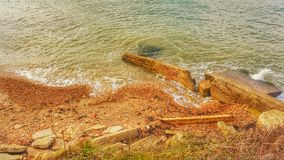 Spiaggia di Gurnard Immagine Stock