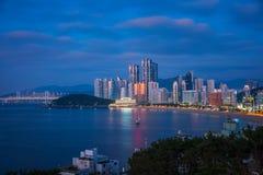 Spiaggia di haeundae di Busan Fotografia Stock