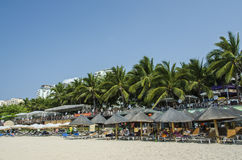 Spiaggia di hai di Dadong, Sanya Fotografia Stock Libera da Diritti