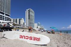 Spiaggia di Hallandale, Florida fotografia stock