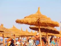 Spiaggia di Hammamet - Tunisia. Immagine Stock