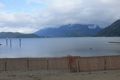 Spiaggia di Harrison Lake Fotografia Stock