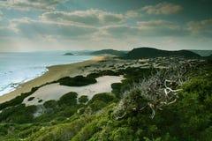 Spiaggia di Hasan, Cipro del Nord Fotografia Stock Libera da Diritti