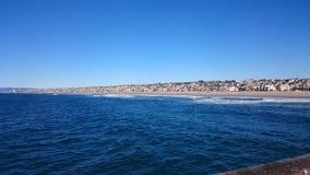 Spiaggia di Hermosa, California Fotografia Stock Libera da Diritti