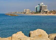Spiaggia di Herzlia. Immagini Stock