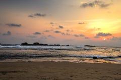 Spiaggia di Hikkaduwa, Sri Lanka Fotografia Stock Libera da Diritti