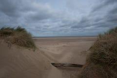 Spiaggia di Holkam in Norfolk del nord Immagini Stock
