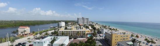 Spiaggia di Hollywood, Florida Fotografia Stock