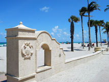 Spiaggia di Hollywood.Florida Immagine Stock