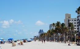 Spiaggia di Hollywood, Florida Immagini Stock