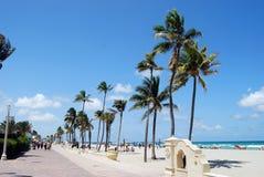 Spiaggia di Hollywood, Florida scenica Fotografie Stock Libere da Diritti
