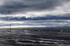 Spiaggia di Hoylake, Wirral, Merseyside, Inghilterra Fotografia Stock Libera da Diritti