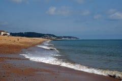 Spiaggia di Hythe Fotografie Stock