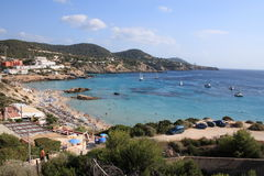 Spiaggia di Ibiza Immagini Stock