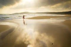 Spiaggia di indicatore luminoso Immagini Stock Libere da Diritti