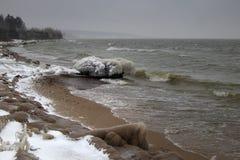Spiaggia di inverno Fotografia Stock Libera da Diritti