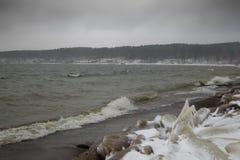 Spiaggia di inverno Fotografie Stock Libere da Diritti