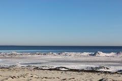 Spiaggia di inverno Immagine Stock