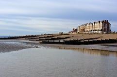 Spiaggia di inverno, Bexhill sul mare, Inghilterra Fotografie Stock