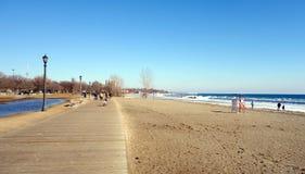Spiaggia di inverno del lago Ontario Fotografia Stock